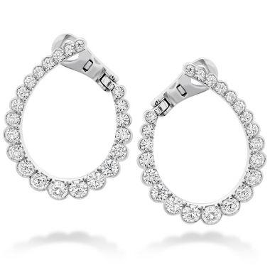 Hearts on Fire 2.1 ctw. Aerial Regal Diamond Hoop Earrings in 18K White Gold