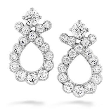 Hearts on Fire 0.9 ctw. Aerial Regal Scroll Earrings in 18K Rose Gold