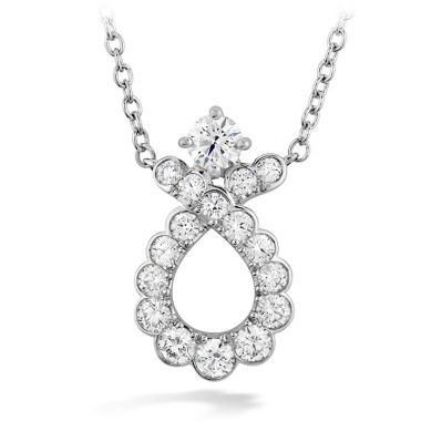 Hearts on Fire 0.55 ctw. Aerial Regal Scroll Pendant in 18K White Gold