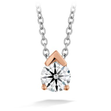 Hearts on Fire 0.5 ctw. Aerial Single Diamond Pendant in 18K Rose Gold