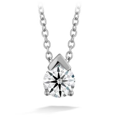 Hearts on Fire 0.1 ctw. Aerial Single Diamond Pendant in 18K White Gold