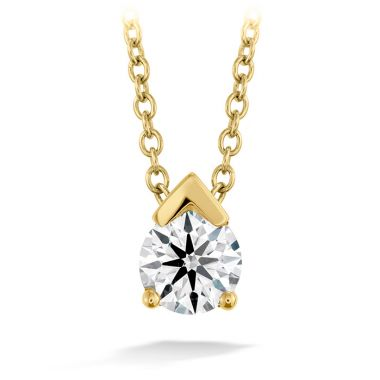 Hearts on Fire 0.2 ctw. Aerial Single Diamond Pendant in 18K Yellow Gold