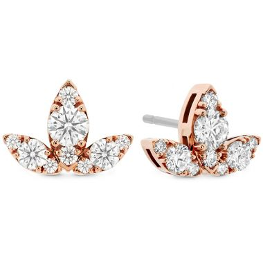 Hearts on Fire 1.15 ctw. Aerial Triple Diamond Stud Earrings - L in 18K White Gold