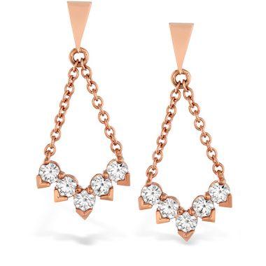 Hearts on Fire 0.8 ctw. Aerial Diamond V Drop Earrings in 18K White Gold