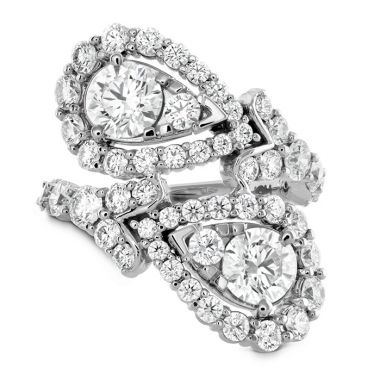 Hearts on Fire 3.8 ctw. Aerial Victorian Bypass Diamond Ring in 18K White Gold