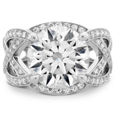Hearts on Fire The Alexandria Diamond Ring in Platinum