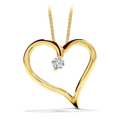 Hearts on Fire 0.12 ctw. Amorous Heart Pendant Necklace in 18K Yellow Gold