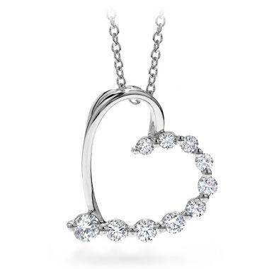 Hearts on Fire 0.5 ctw. Amorous Journey Heart Pendant Necklace in 18K White Gold