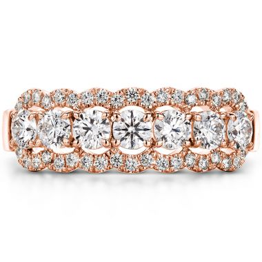 Hearts on Fire 0.94 ctw. Aurora Seven Diamond Band in 18K Rose Gold