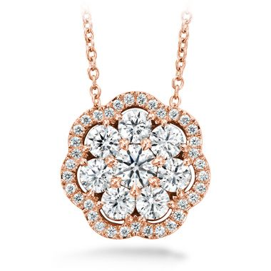 Hearts on Fire 1.45 ctw. Aurora Cluster Pendant in 18K Rose Gold