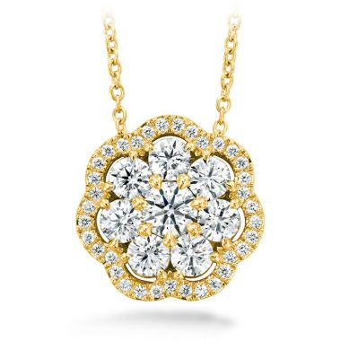 Hearts on Fire 1.45 ctw. Aurora Cluster Pendant in 18K Yellow Gold