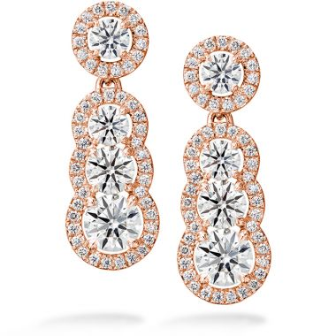 Hearts on Fire 2.81 ctw. Aurora Drop Earrings in 18K Rose Gold