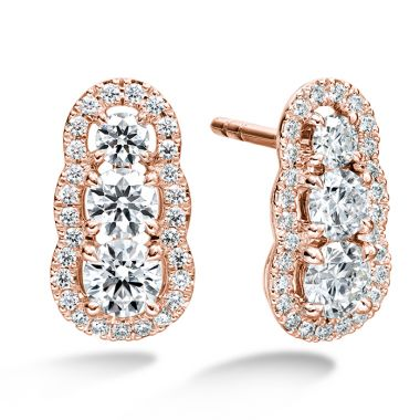 Hearts on Fire 1.27 ctw. Aurora  Earrings in 18K Rose Gold
