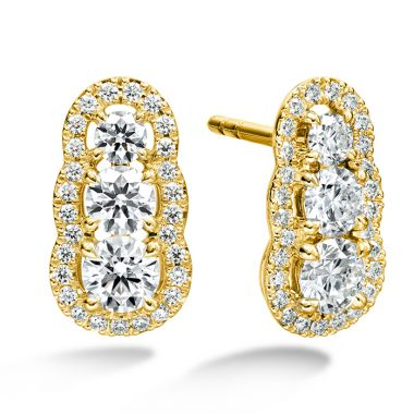 Hearts on Fire 1.27 ctw. Aurora  Earrings in 18K Yellow Gold