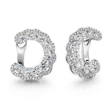 Hearts on Fire 3.35 ctw. Aurora Hoop Earrings in Platinum