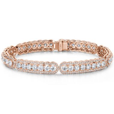 Hearts on Fire 8.8 ctw. Aurora Line Bracelet in 18K Rose Gold