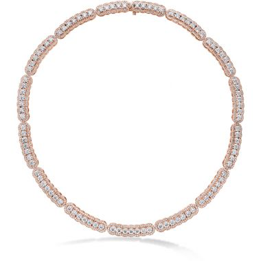 Hearts on Fire 20.21 ctw. Aurora Line Necklace in 18K Rose Gold