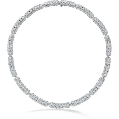 Hearts on Fire 20.21 ctw. Aurora Line Necklace in Platinum