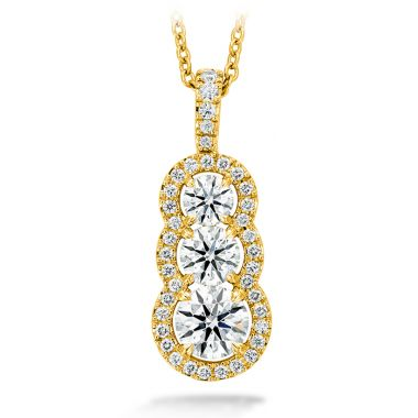 Hearts on Fire 1.07 ctw. Aurora Pendant - Large in 18K Yellow Gold