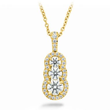 Hearts on Fire 0.77 ctw. Aurora Pendant - Small in 18K Yellow Gold