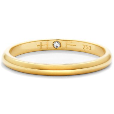Hearts on Fire Ladies Half-Round Comfort Fit Band in 18K Yellow Gold