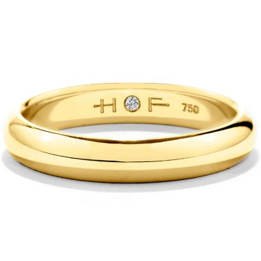 Hearts on Fire Men's Half-Round Comfort Fit Band in 18K Yellow Gold