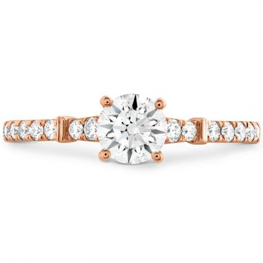 Hearts on Fire 18k Rose Gold Straight Engagement Ring
