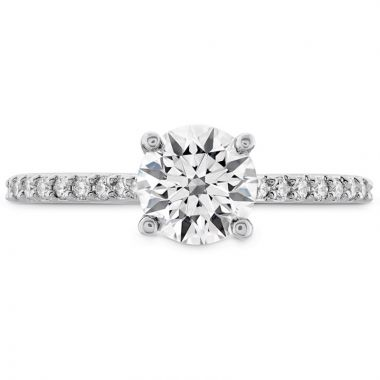 Hearts on Fire 18k White Gold  Solitaire Engagement Ring