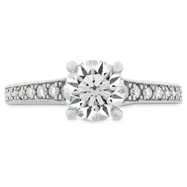 Hearts on Fire Platinum Liliana Straight Engagement Ring