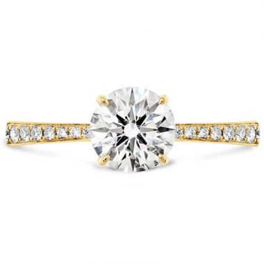 Hearts on Fire 18k Yellow Gold Straight Engagement Ring