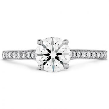 Hearts on Fire 18k White Gold  Pave Engagement Ring