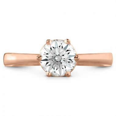Hearts on Fire 18k Rose Gold Solitaire Engagement Ring
