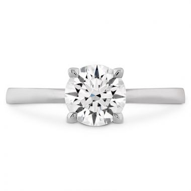 Hearts on Fire Platinum Solitaire Engagement Ring