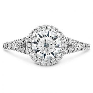 Hearts on Fire 18k White Gold Split Shank Engagement Ring