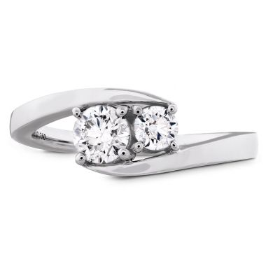 Hearts on Fire 0.54 ctw. HOF Two Diamond Ring in 18K White Gold