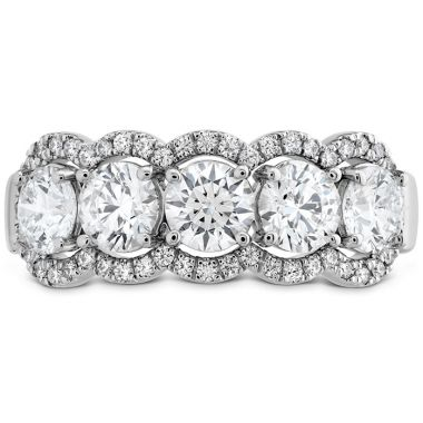 Hearts on Fire 1.55 ctw. HOF 5 Stone Halo Band in Platinum