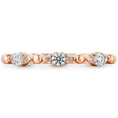 Hearts on Fire 0.16 ctw. HOF Beaded Regal Band in 18K Rose Gold