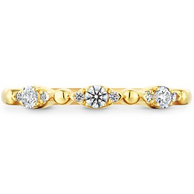 Hearts on Fire 0.16 ctw. HOF Beaded Regal Band in 18K Yellow Gold