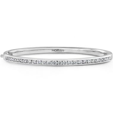 Hearts on Fire 2.15 ctw. HOF Classic Channel Set Bangle - 270 in 18K White Gold