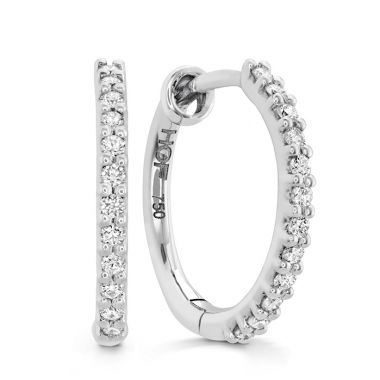 Hearts on Fire 0.1 ctw. HOF Classic Diamond Hoop - Small in 18K White Gold