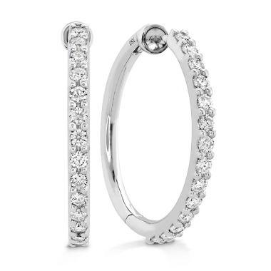 Hearts on Fire 0.45 ctw. HOF Classic Diamond Hoop - Medium in 18K White Gold