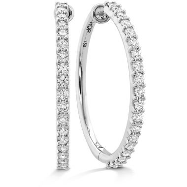 Hearts on Fire 1.2 ctw. HOF Classic Diamond Hoop - Large in 18K Yellow Gold