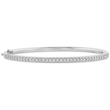 Hearts on Fire 0.75 ctw. HOF Classic Prong Set Bangle - 170 in 18K White Gold