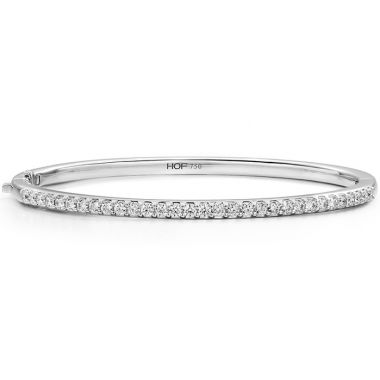 Hearts on Fire 1.1 ctw. HOF Classic Prong Set Bangle - 210 in 18K Yellow Gold