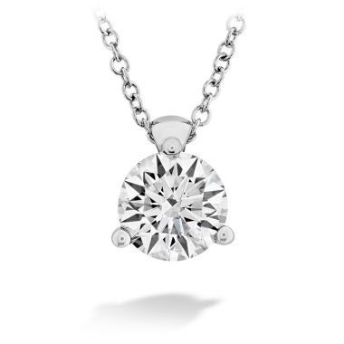 Hearts on Fire 0.1 ctw. HOF Classic 3 Prong Solitaire Pendant in 18K White Gold