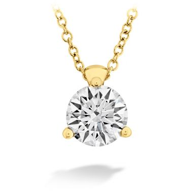 Hearts on Fire 0.1 ctw. HOF Classic 3 Prong Solitaire Pendant in 18K Yellow Gold