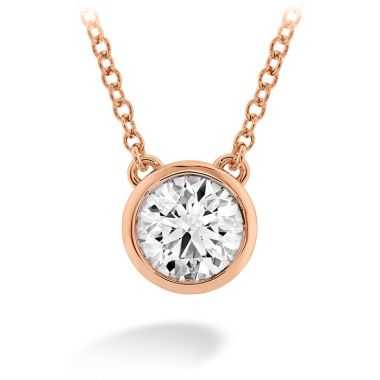 Hearts on Fire 0.25 ctw. HOF Classic Bezel Solitaire Pendant in 18K Rose Gold