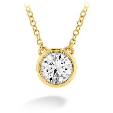 Hearts on Fire 0.25 ctw. HOF Classic Bezel Solitaire Pendant in 18K Yellow Gold