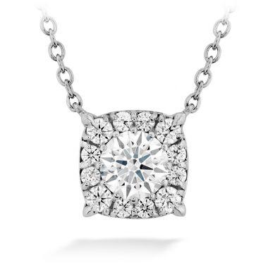 Hearts on Fire 0.24 ctw. HOF Custom Halo Diamond Pendant in 18K White Gold
