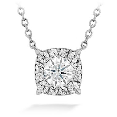 Hearts on Fire 0.55 ctw. HOF Custom Halo Diamond Pendant in 18K White Gold
